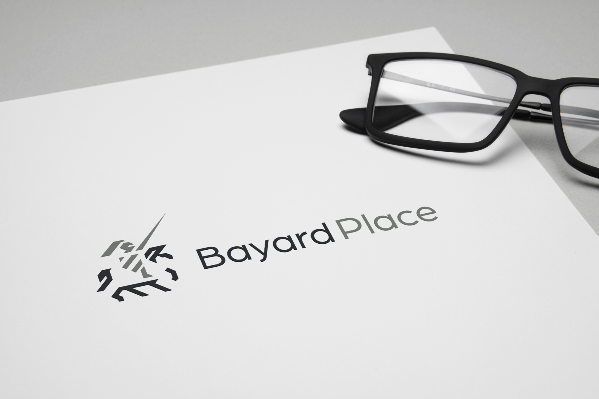 Bayard place logo on paper
