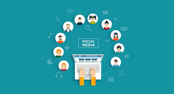 social media with people icons