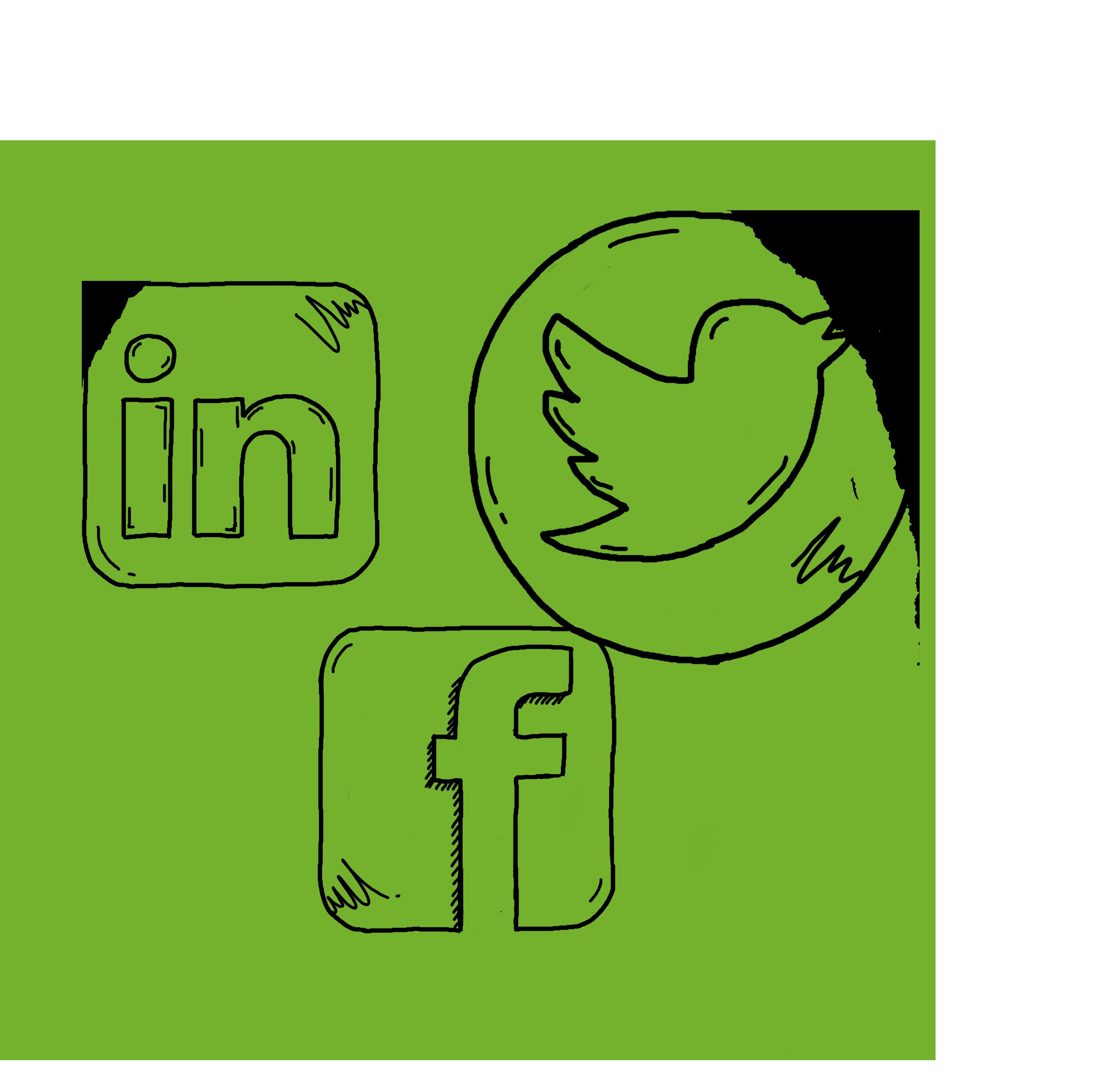 Green social media circle