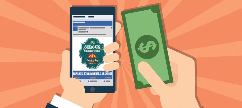 Facebook Ads and money note
