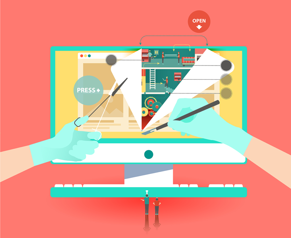 Fixing a website illustration