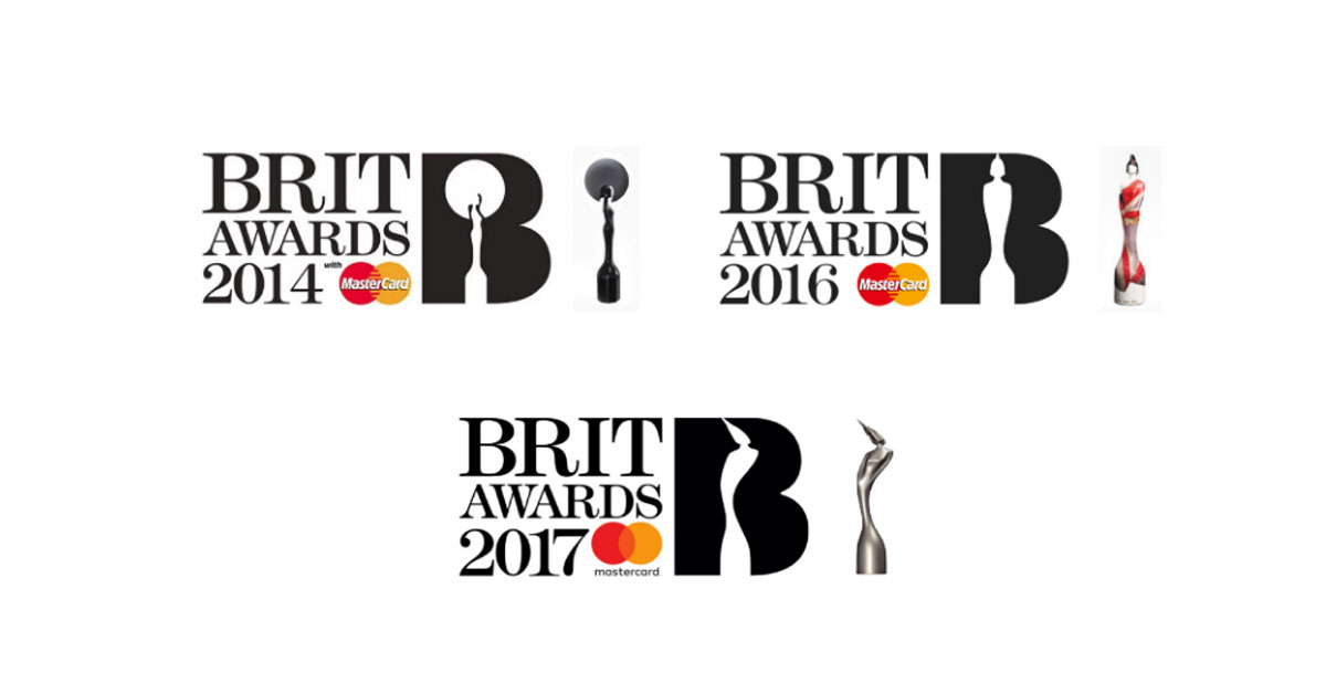 The Brit Awards different logos