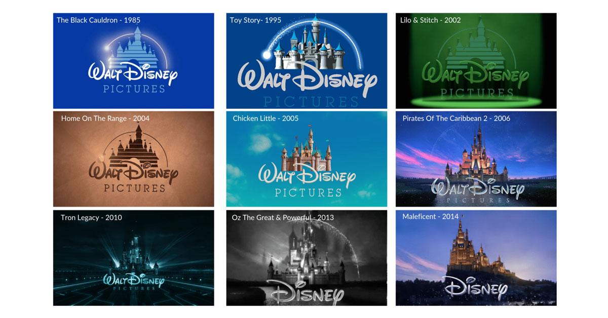 Different Disney Film Logos