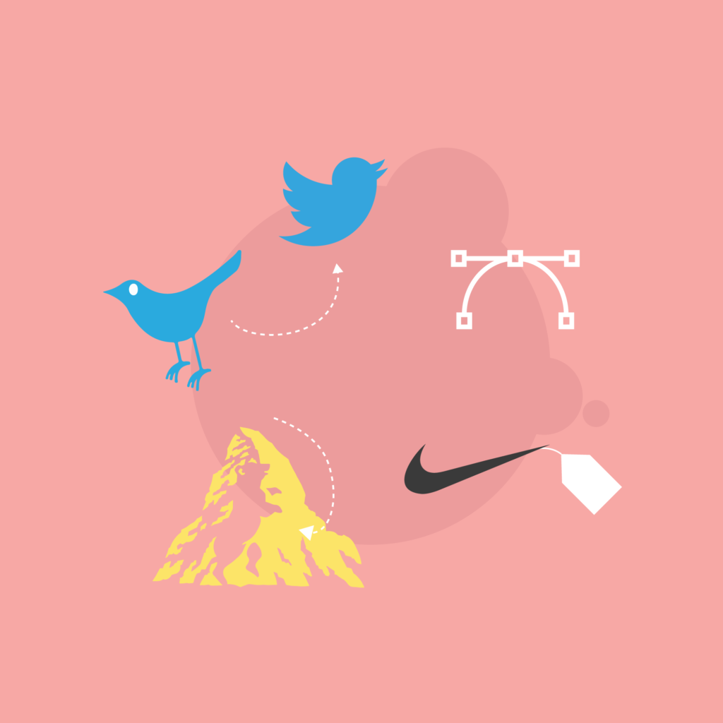 Illustration of Famous Brands