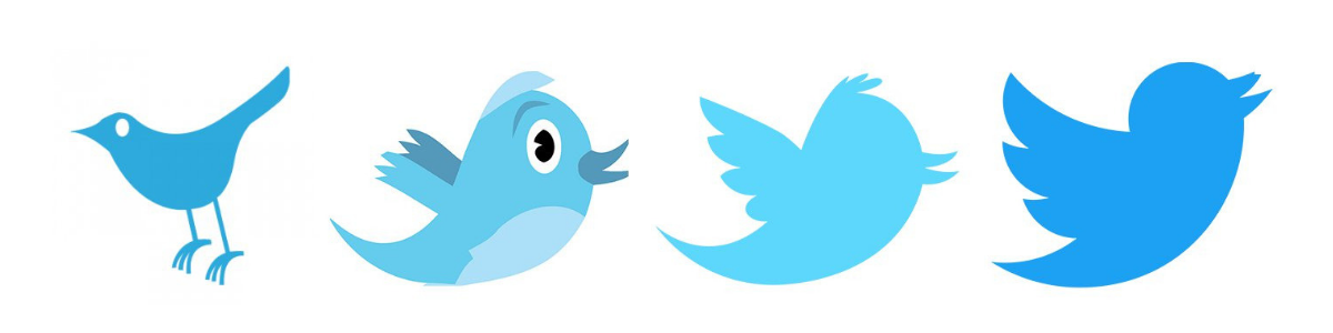 Twitter Logo throughout the years