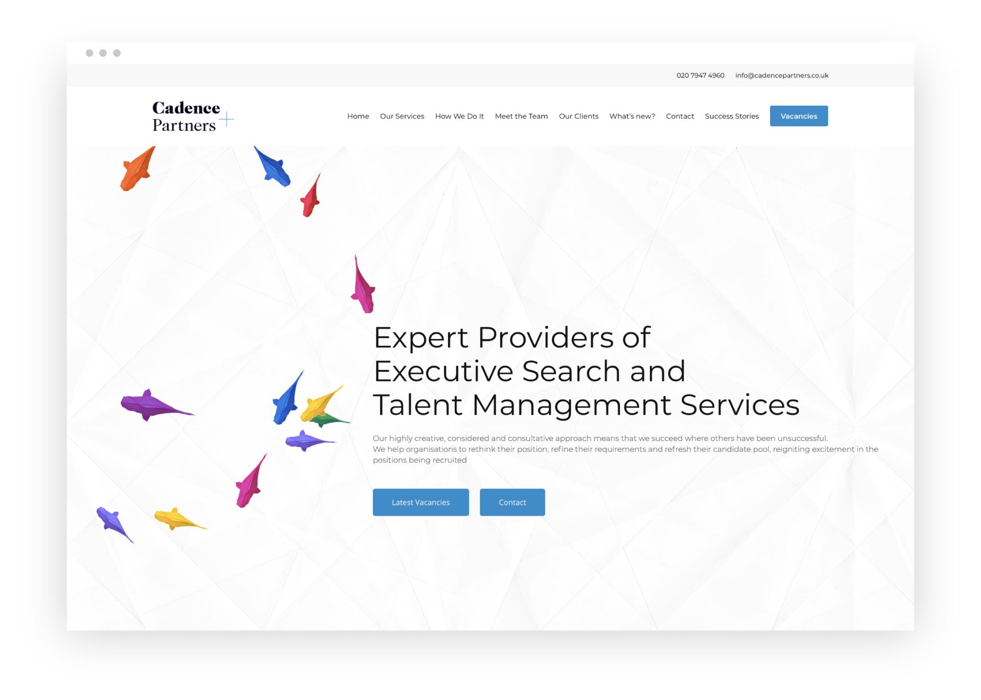 Cadence Partners website in browser view