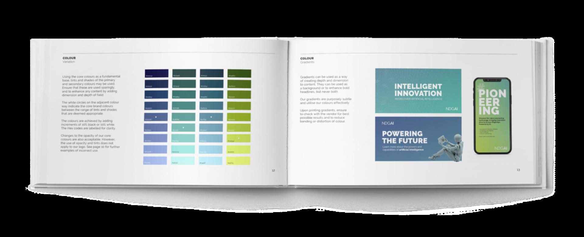 NDGAI branding visual guidelines inside