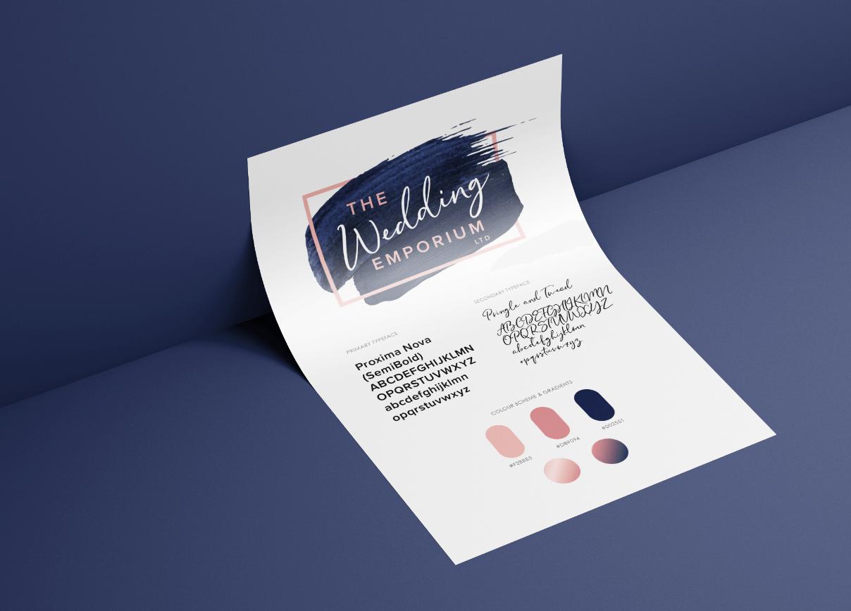 The Wedding Emporium branding sheet